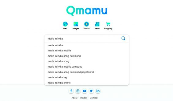 """India's proud moment! 22- year old Indian Gujarati Man has dedicated India's first private search engine """"QMAMU"""" to the nation on Republic day"""