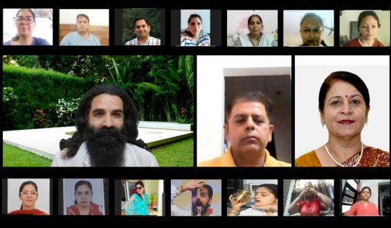 Dr. Rama Arora, both the faculty members and students to produce yoga an essential component of our everyday life with Yogacharya Amit Dev