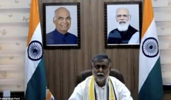 "Shri Prahlad Singh Patel collectively addresses webinar ""Yoga: The way of life"" with Sri Sri Ravi Shankar organised by Tourism Ministry on Worldwide Day of Yoga"