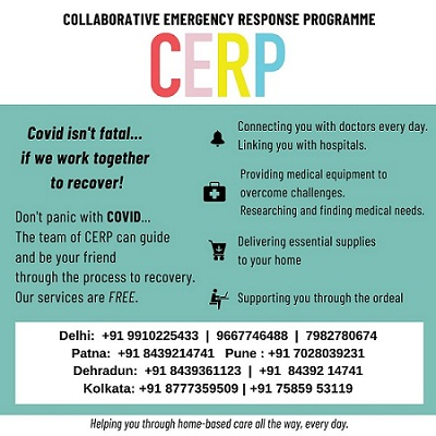 CERP Responds comprehensively to the Covid Pandemic in India