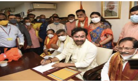 <center>Shri G Kishan Reddy takes cost as Union Tourism Minister <br>Shri Ajay Bhatt additionally took cost as Minister of State within the Ministry of Tourism</center>